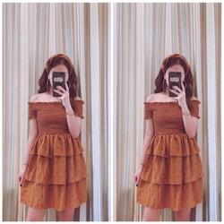 Đầm nhún bẹt vai
