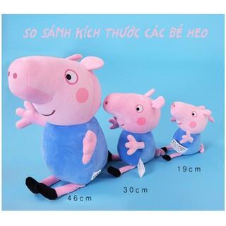 Thú bông gia đình peppa pig heo sữa bé Nấm bông mịn chính hãng - 46cm - THUNB0003-46 thumbnail