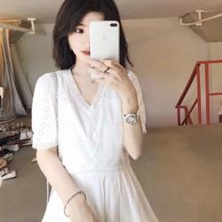 Đầm ren trắng - Hàng Quảng Châu