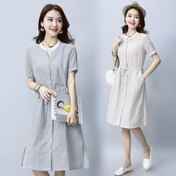 Đầm suông sọc ngắn tay D3024