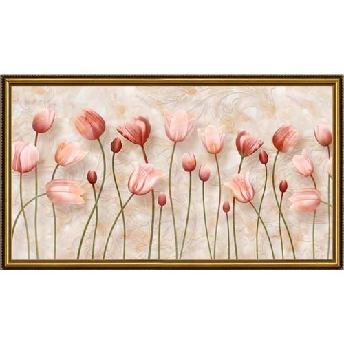 Tranh dán tường 3D VTC Hoa tulip Lunawall-0406K KT 150 x 85 cm