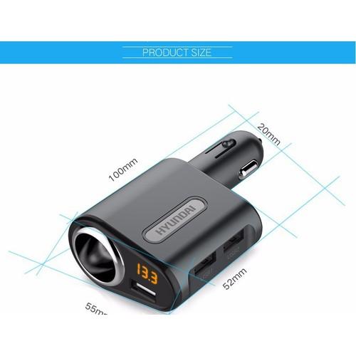 Bộ chia tẩu sạc ô tô Hyundai 3 Cổng USB - Bộ chia tẩu sạc - 5735032 , 9715986 , 15_9715986 , 240000 , Bo-chia-tau-sac-o-to-Hyundai-3-Cong-USB-Bo-chia-tau-sac-15_9715986 , sendo.vn , Bộ chia tẩu sạc ô tô Hyundai 3 Cổng USB - Bộ chia tẩu sạc