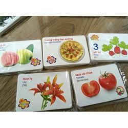 Bộ thẻ học thông minh cho bé 16 chủ đề Anh Việt 416 thẻ