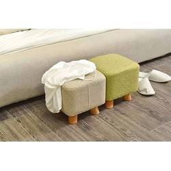 Ghế sofa bọc nỉ chân thấp