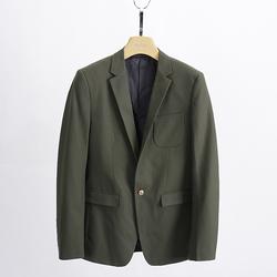 Áo vest nam cao cấp màu xanh rêu 1 khuy có túi trong Hàn Quốc