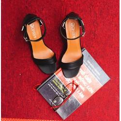 Sandal phối màu gót vuông
