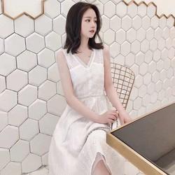 Đầm trắng sát nách - Hàng Quảng Châu