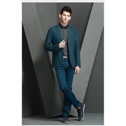 Áo vest nam cao cấp màu xanh lá cây đậm phong cách phương Tây