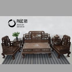 Nội Thất Phòng Khách - Bộ Bàn Ghế Salon Gỗ Chiêu Liêu mẫu Lương Sơn