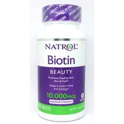 Natrol Biotin 10000mcg 100 viên từ Mỹ mẫu mới. Mọc tóc, giảm rụng tóc