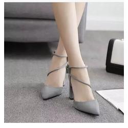 giầy cao gót quai chéo hai dây siêu xinh sành điệu cho nàng cá tính