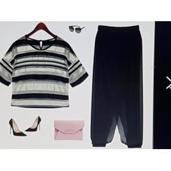 Bộ áo và quần nữ thiết kế trẻ trung, phong cách cá tính
