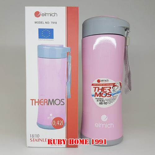 Bình giữ nhiệt Elmich inox 304 420 ml màu hồng kute Nhập khẩu từ Séc - 5735565 , 9717436 , 15_9717436 , 365000 , Binh-giu-nhiet-Elmich-inox-304-420-ml-mau-hong-kute-Nhap-khau-tu-Sec-15_9717436 , sendo.vn , Bình giữ nhiệt Elmich inox 304 420 ml màu hồng kute Nhập khẩu từ Séc