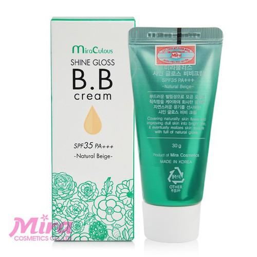Kem BB Cream Trắng Da Kiểm Soát Dầu Hàn Quốc MiraCulous Shine Gloss