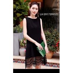 đầm bầu đẹp váy bầu xinh mùa hè thời trang Hàn Quốc mới L12vbn1