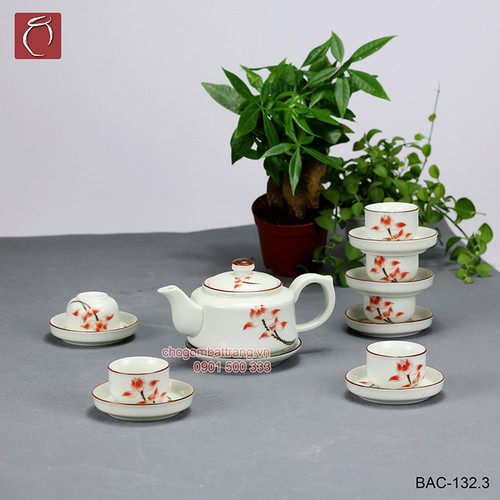 Bộ ấm chén men kem vẽ hoa sen đỏ gốm sứ Bảo Khánh Bát Tràng - bộ bình uống trà cao cấp - 5744124 , 9737077 , 15_9737077 , 450000 , Bo-am-chen-men-kem-ve-hoa-sen-do-gom-su-Bao-Khanh-Bat-Trang-bo-binh-uong-tra-cao-cap-15_9737077 , sendo.vn , Bộ ấm chén men kem vẽ hoa sen đỏ gốm sứ Bảo Khánh Bát Tràng - bộ bình uống trà cao cấp