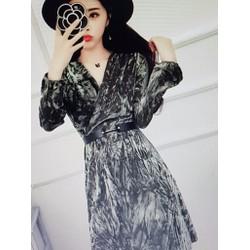 Đầm nhung xòe nữ kiểu dáng sang chảnh, phong cách thời thượng
