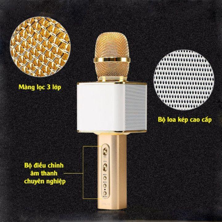 Micro Karaoke Không dây Bluetooth Loa Nhạc speakers PKCB-YS10 Cao Cấp 11