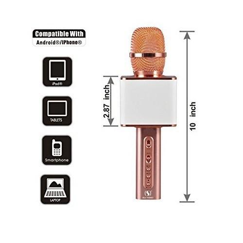 Micro Karaoke Không dây Bluetooth Loa Nhạc speakers PKCB-YS10 Cao Cấp 23
