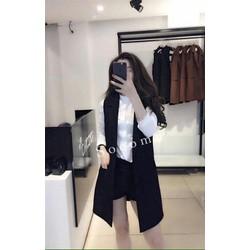 Set 3 món: áo vest đen + quần short đen + áo sơ mi trắng siêu cute