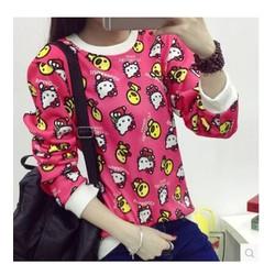 áo thun nữ tay dài hello kitty Mã: AX2654