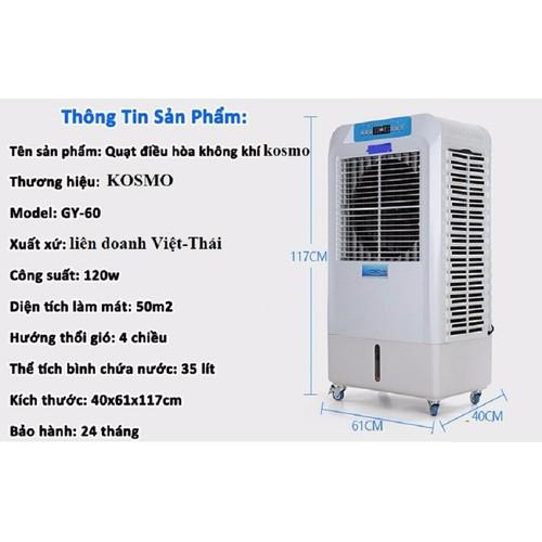 Quạt điều hòa không khí KOSMO GY 60 - 5907432 , 9974059 , 15_9974059 , 3780000 , Quat-dieu-hoa-khong-khi-KOSMO-GY-60-15_9974059 , sendo.vn , Quạt điều hòa không khí KOSMO GY 60