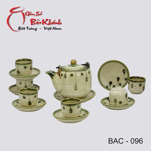 Bộ ấm chén vại men cổ số 1 gốm sứ Bảo Khánh Bát Tràng - bộ bình uống trà cao cấp