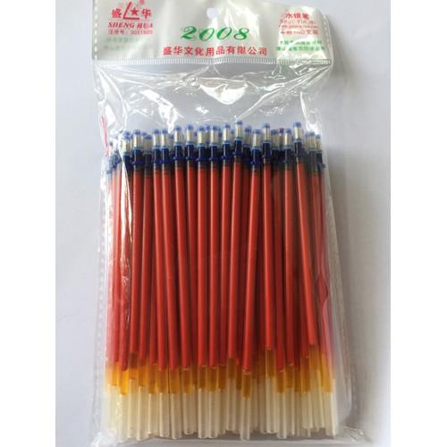 Combo 25 chiếc ruột bút nhũ bạc, đen, đỏ