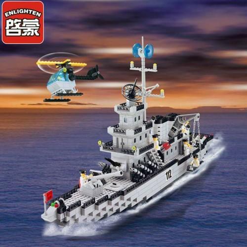 Lắp Ráp Tàu Chiến Cỡ Lỡn và Trực Thăng - 970 Chi Tiết