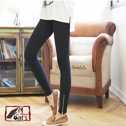 Quần legging dây kéo chân