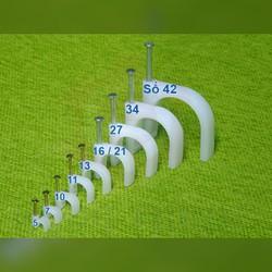 50 cái Móc đóng ống dây điện 27mm hoặc 34 mm hoặc 42 mm