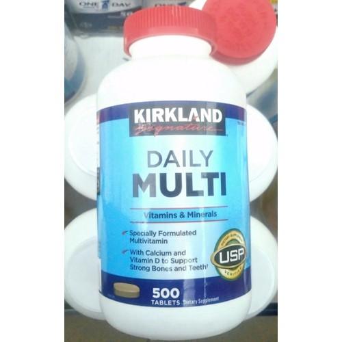 Vitamin tổng hợp từ Mỹ Kirkland Daily Multi 500 viên, Mineral