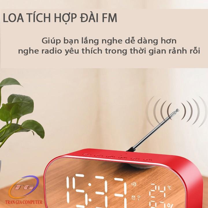 Loa bluetooth nghe đài FM kiêm đồng hồ báo thức Yayusi S2 5