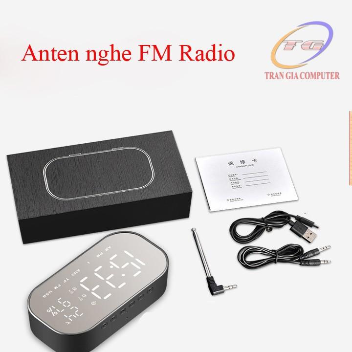 Loa bluetooth nghe đài FM kiêm đồng hồ báo thức Yayusi S2 4