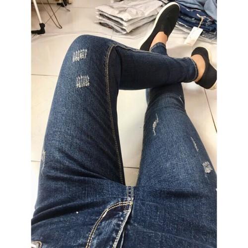 Quần jean skinny xước nữ co giãn cực kute