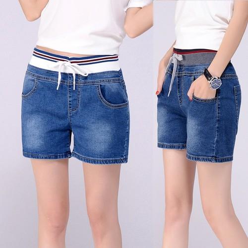 Quần short jean nữ lưng thun QS0115