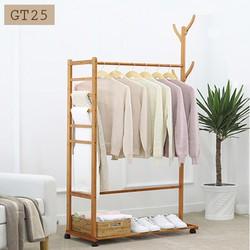 Giá treo quần áo, giá treo chất liệu tre thông minh GT25 KT 80 cm