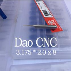 combo 5 hộp dao cnc cắt alu 3.175 2x8 mm