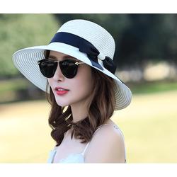 nón đi biển đẹp, nón cói thắt nơ cao cấp, mũ cói vành thời trang