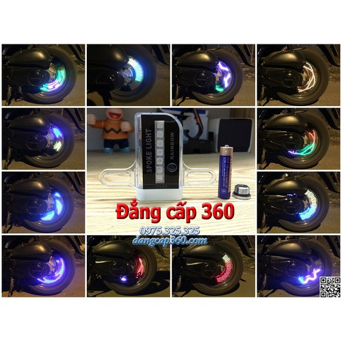 Đèn led van - đèn led bánh xe - 16 màu 36 kiểu hình