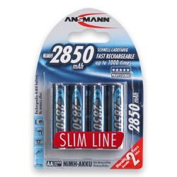 Pin sạc AA Ansmann NiMh HR6 AA2850mAh - Vỉ 4 viên