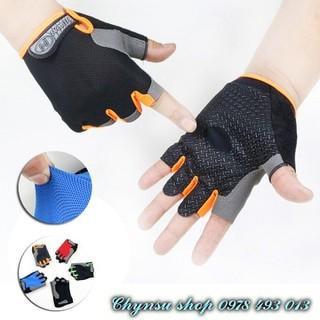 Găng tay Bao tay nam nữ tập gym lái xe du lịch phượt - CS - Huwai orange thumbnail