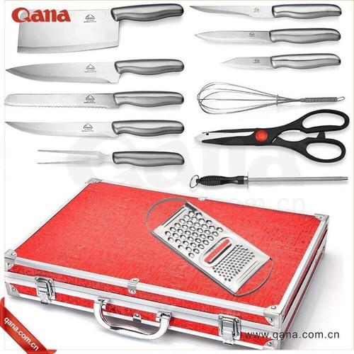 bộ valy dao kéo làm bếp - bộ dao 11 món đa năng