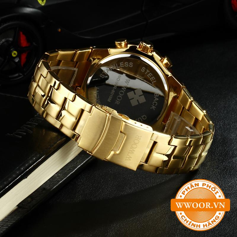Đồng hồ nam WWOOR 8019 Vàng chính hãng 4