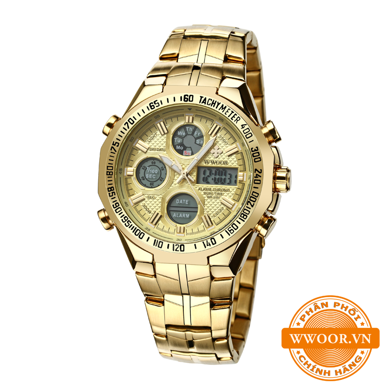 Đồng hồ nam WWOOR 8019 Vàng chính hãng 1