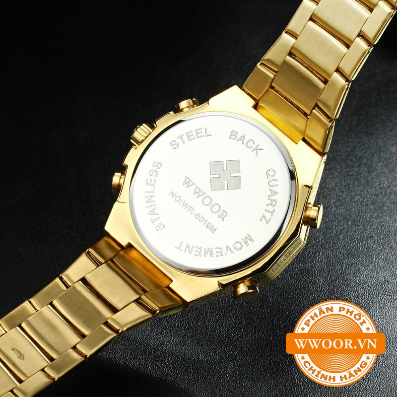 Đồng hồ nam WWOOR 8019 Vàng chính hãng 5