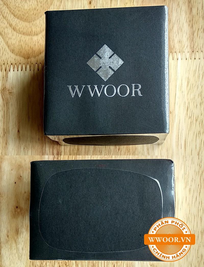Đồng hồ thời trang nam WWOOR 8801, dây da chính hãng 5