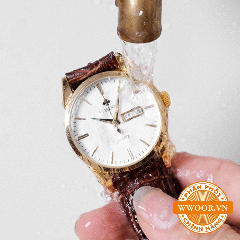 Đồng hồ thời trang nam WWOOR 8801, dây da chính hãng 2