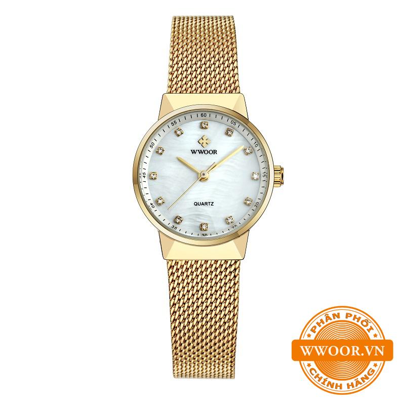 Đồng hồ thời trang nữ WWOOR 8025, chính hãng 4
