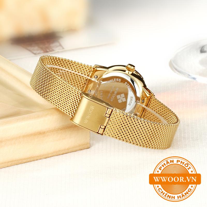 Đồng hồ thời trang nữ WWOOR 8025, chính hãng 5